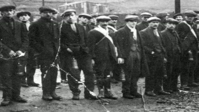 Miners in Cwm when the town was thriving