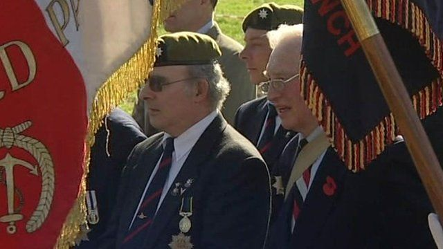 Memorial unveiling ceremony in France