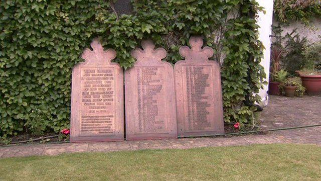 World War One plaques