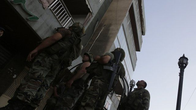 Lebanese army soldiers