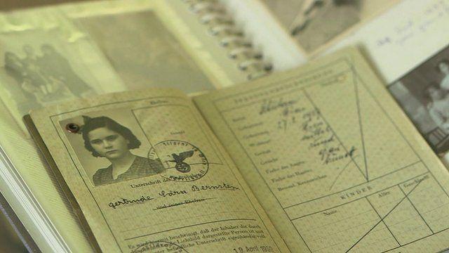 Passport of a child refugee
