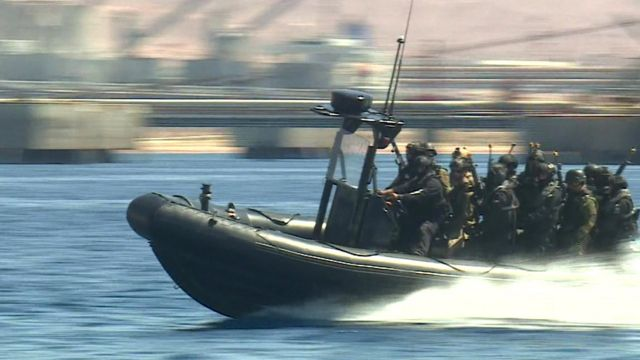 Special forces in boat, Jordan