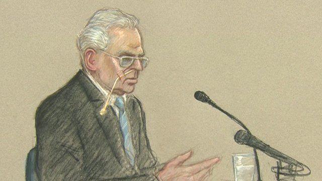 Court artist sketch of Ian Brady at mental health tribunal