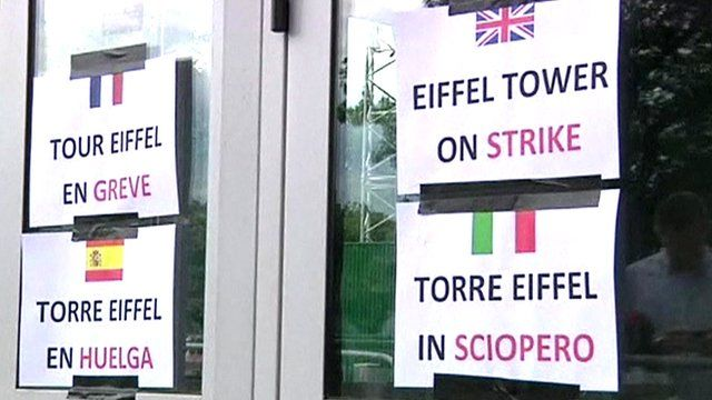 Notices of industrial action at the Eiffel Tower