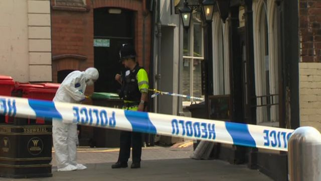Forensic officer at Cambrian Hotel, Wrexham