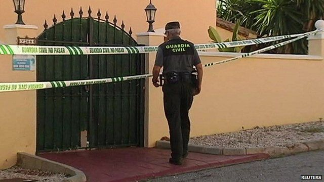 Police at the scene of the shootings in Mijas