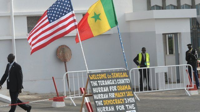 US and Senegal flags