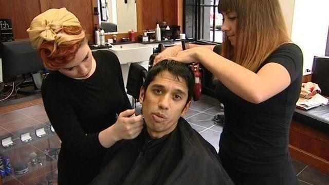 Aditya Chakrabortty having a haircut