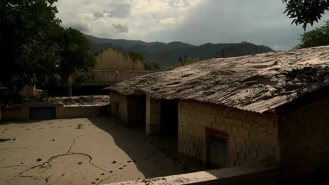 Empty town covered in mud following India's floods