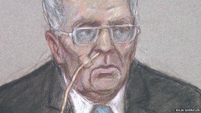 Hearing sketch of Ian Brady