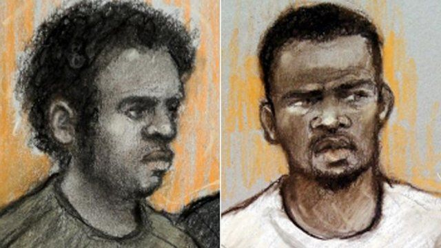 Court sketches of Michael Adebowale and Michael Adebolajo
