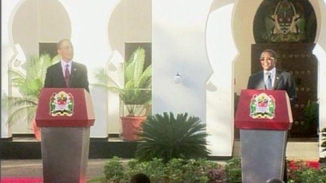 Presidents Obama and Kikwete