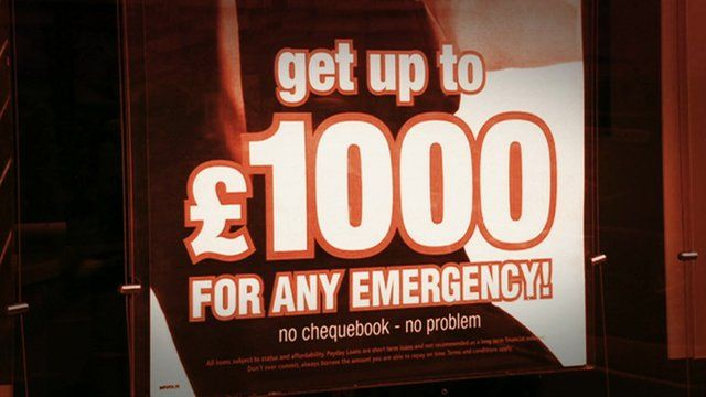 Advert for Payday loan company