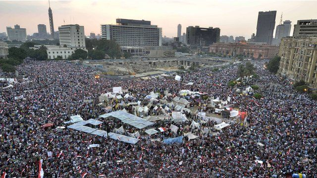 Protesters in Tahrir Square, Cairo