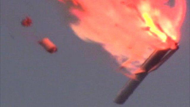 Russian Proton-M rocket breaking up