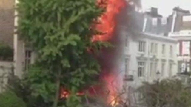 Kensington blaze. Video from Linzi Sellers