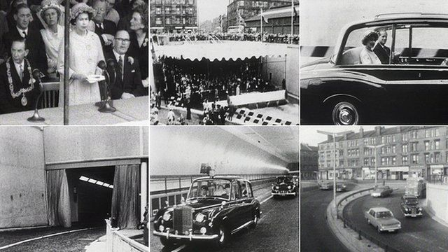 The Queen opens the Clyde Tunnel in 1963