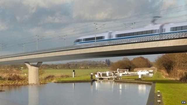 Birmingham and Fazeley viaduct, part of the new proposed route for HS2
