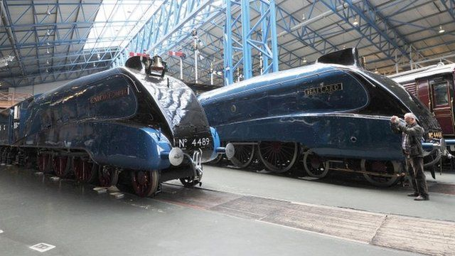 Dominion of Canada and Mallard at the National Railway Museum