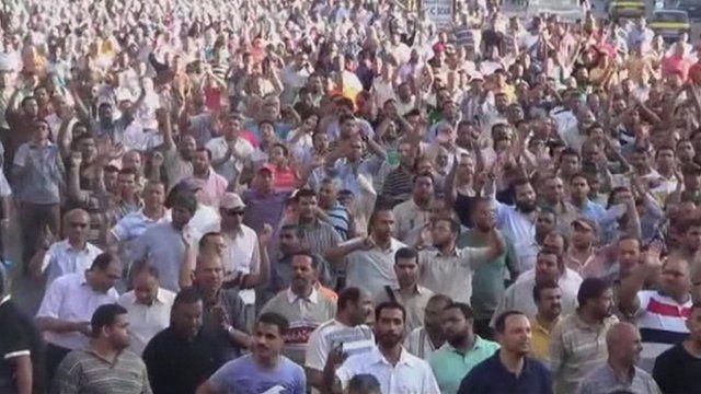 Protesters in Alexandria