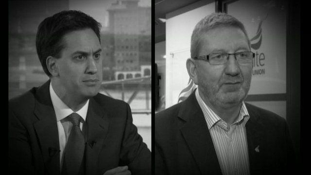 Ed Miliband, Len McLuskey
