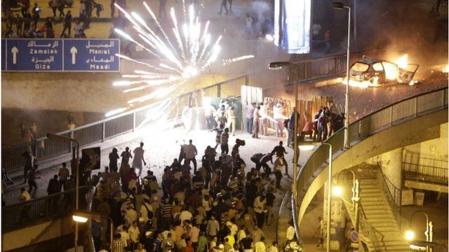 Clashes near Tahrir Square on Friday evening