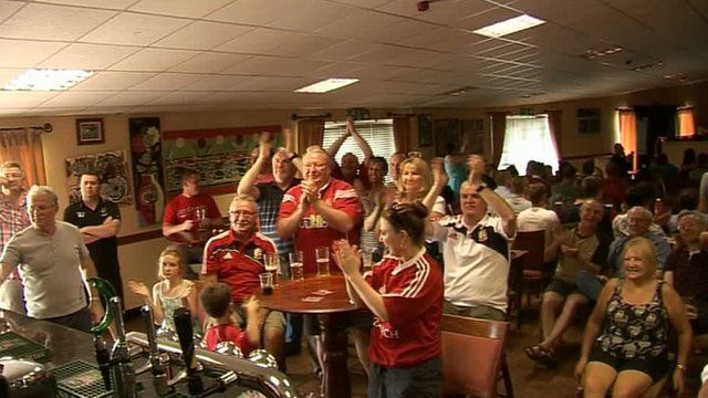 Rugby fans at Gorseinon RFC