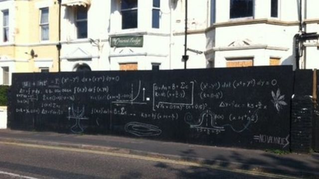 Bournemouth mathematics graffiti 'meaningless'
