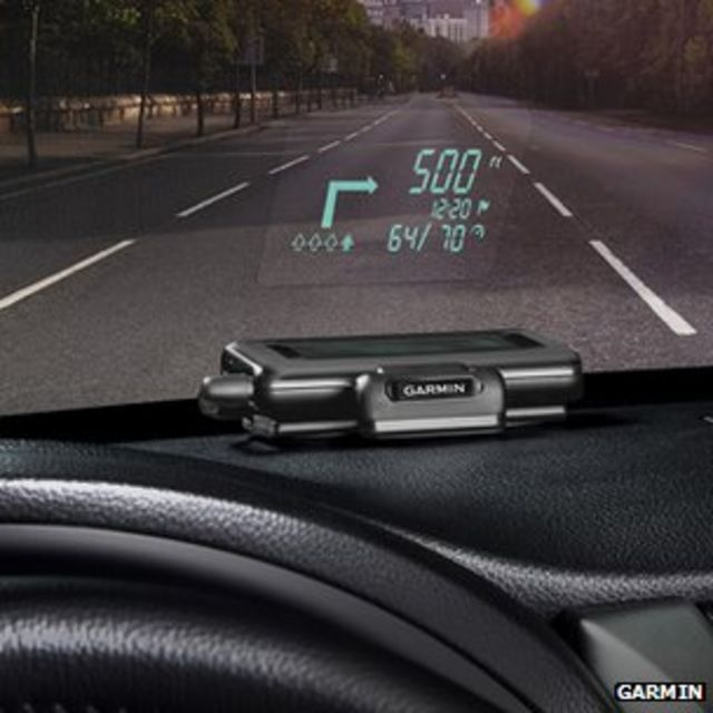 Smartphone becomes in-car head-up display