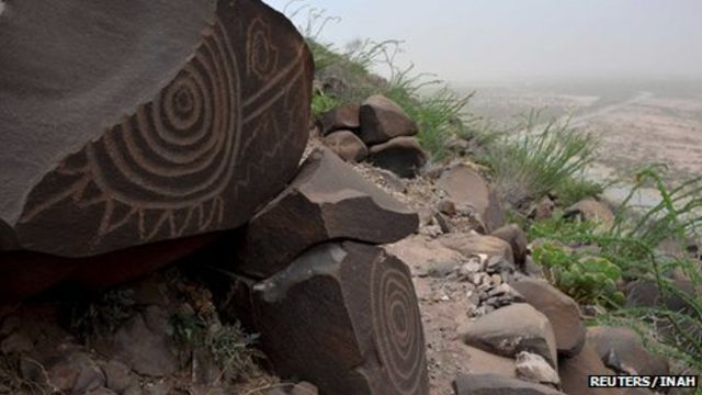 Mexico unveils stone-age etchings