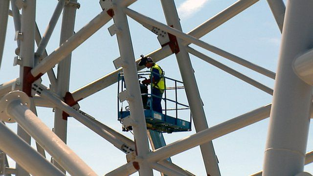 Man working on the kelpies structure