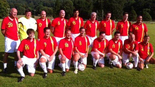 Wales team in Machynlleth