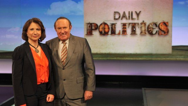 Jo Coburn and Andrew Neil front the Daily Politics programme