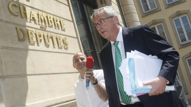 Luxembourg outgoing Prime Minister Jean-Claude Juncker