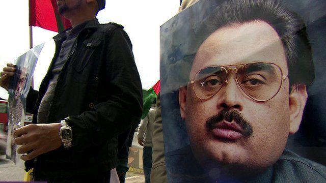 Poster of MQM party leader, Altaf Hussain