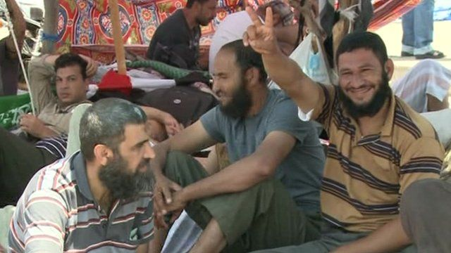 Makeshift camp in Cairo
