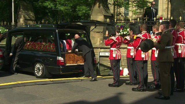 The coffin of Fusilier Lee Rigby arrives at Bury Parish