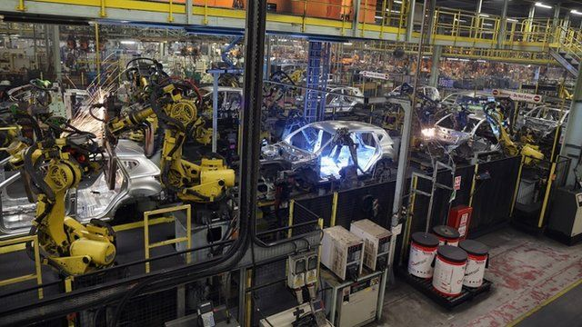 The production line at Nissan's Sunderland plant