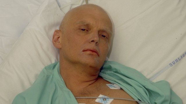 Alexander Litvinenko in hospital bed