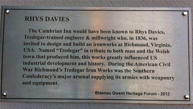 Rhys Davies plaque