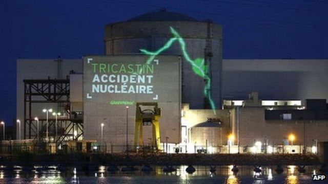Greenpeace protests inside French nuclear plant