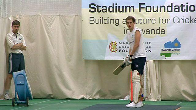 Alby Shale batting