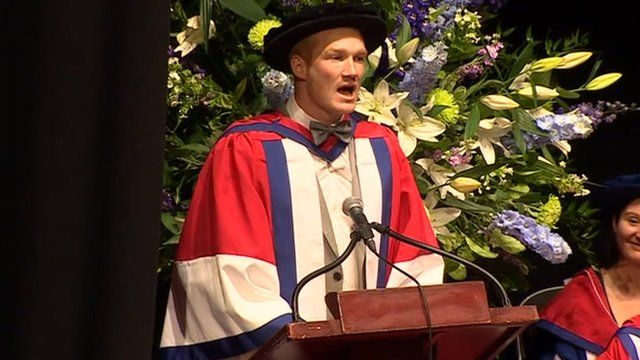 Greg Rutherford awarded honorary doctorate