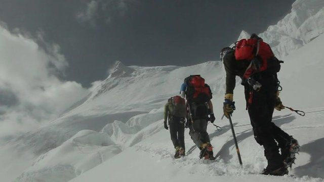 Walkers on Everest