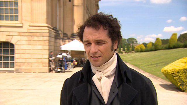 Death Comes to Pemberley being filmed at Chatsworth House