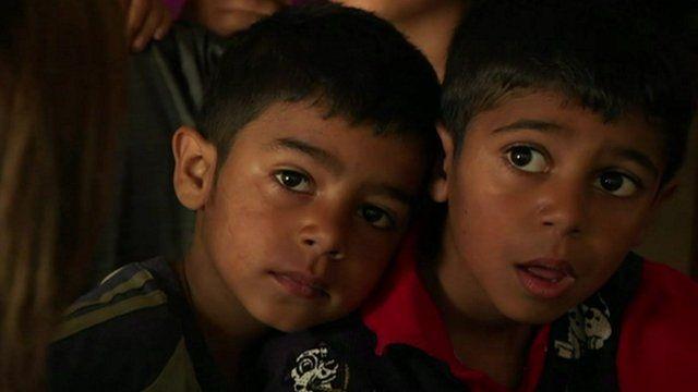 Two Serbian Roma children