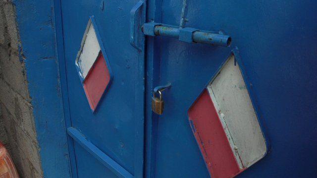 Door inside a so-called Yemeni 'torture camp'
