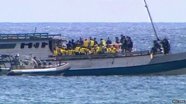 Asylum seekers stopped by Australian immigration
