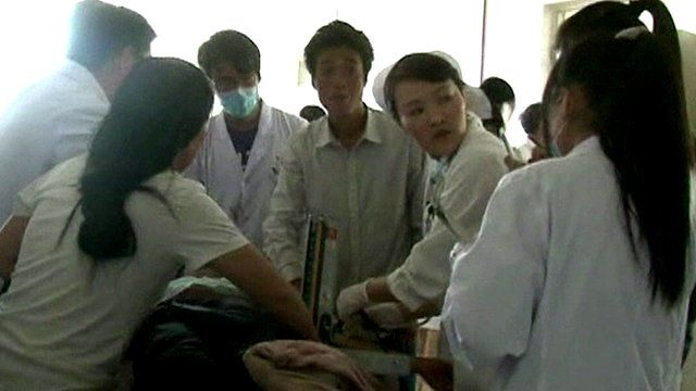 Nursing staff treating the injured
