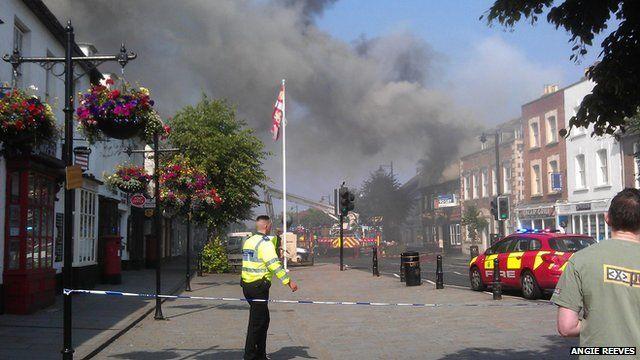 Fire at Cross Keys pub in Royal Wootton Bassett in Wiltshire